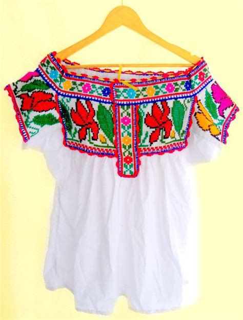 Handmade Mexican Embroidered Dresses - juquila handmade mexican embroidered blouse or wedding