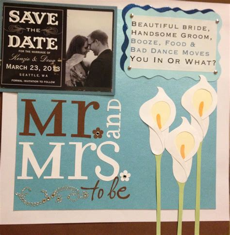 Scrapbooking Wedding Invitation Ideas by Wedding Scrapbook Page One With Save The Date Post Card
