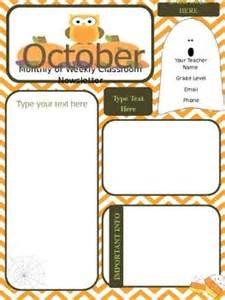 october newsletter template templates parent communication and newsletter templates