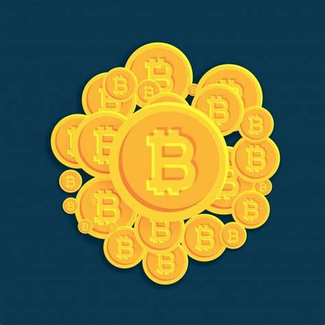 Bitcoin Orange Cyan bitcoin logo vectors photos and psd files free
