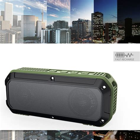 Speaker Bluetooth Aukey Sk M16 Outdoor Waterproof Stereo aukey outdoor waterproof stereo bluetooth speaker dual 3w driver sk m8 black