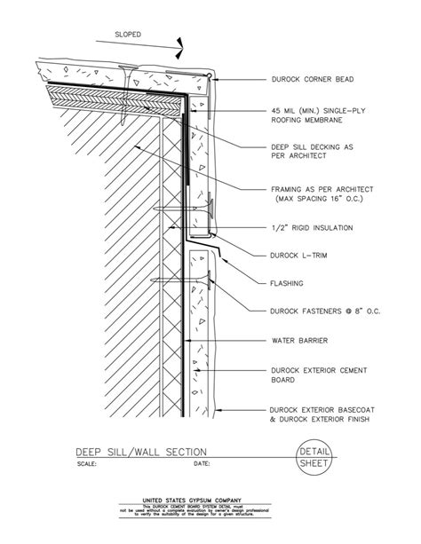 detail wall section usg design studio rigid insulation download details