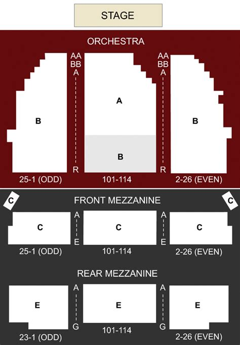 ethel barrymore theater  york ny seating chart