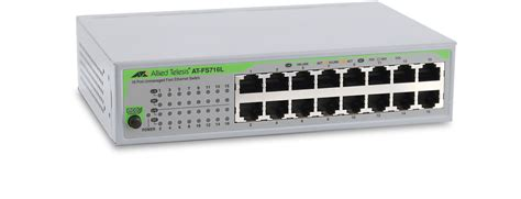 At Gs950 fs716l unmanaged fast ethernet switch allied telesis