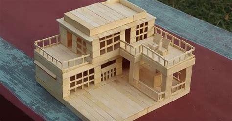 cara membuat rumah dari kardus dan stik es krim gambar miniatur rumah dari stik dan cara membuat rumah