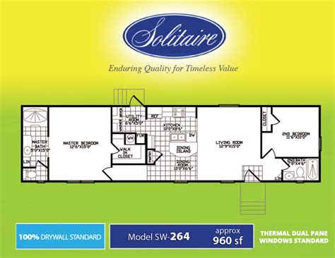 18x80 Mobile Home Floor Plans by 18 Foot Wide Mobile Home Floor Plans