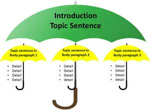 teach students how to write topic sentences