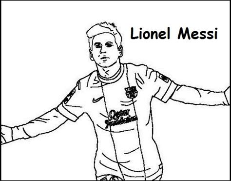 lionel messi coloring printable page  images