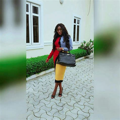 Posh Steps Out In A Sack by Ini Edo Looking Beautiful And As She Steps Out In