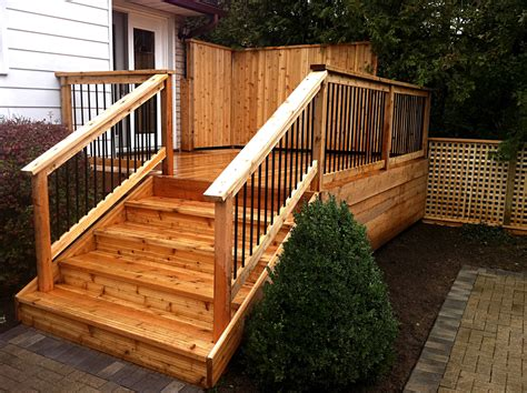 simple wood deck landscaping woodwork gallery frontiers landscape