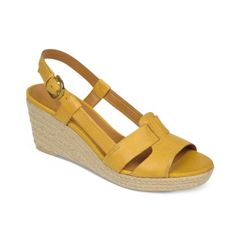 franco sarto crispin platform wedge sandals in yellow