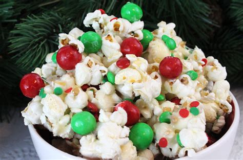 christmas food ideas for a group santa crunch popcorn two