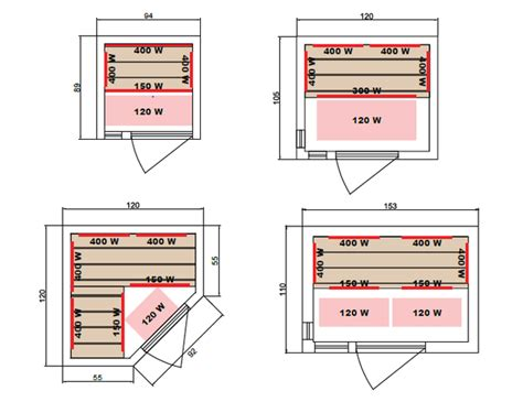 House Plans With Dimensions luxe sauna infrarouge 224 domicile piscine center net