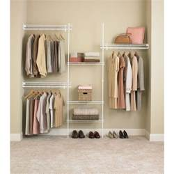 closetmaid superslide 5 ft to 8 ft metal white closet