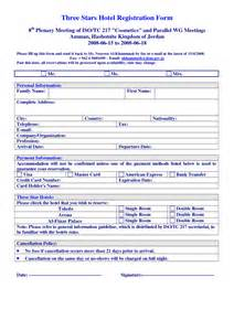hotel registration form template hotel registration form sle