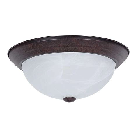 plc lighting 1 light ceiling light rubbed bronze acid