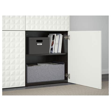 besta djupviken best 197 storage combination with doors black brown djupviken