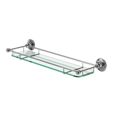 Chrome Banister Rails by Burlington Shelf With Chrome Railing Uk Bathrooms