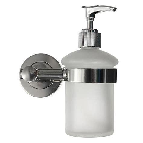 bathroom liquid soap dispenser wall mount bathroom frosted glass shoo liquid soap dispenser wd ebay
