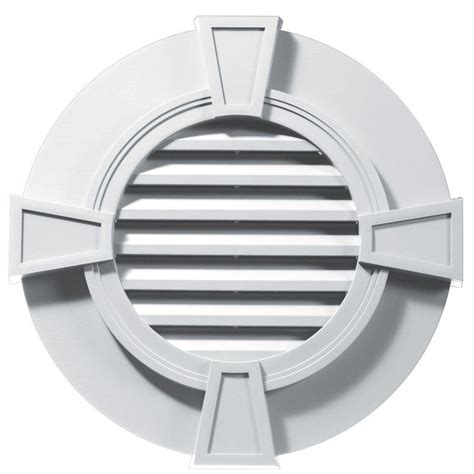 master flow 2 in resin circular mini wall louver vent in