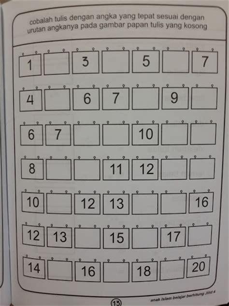 Belajar Menulis Membaca Berhitung Untuk Tk Paud Usia 4 buku anak islam belajar berhitung 1 set 4 jilid toko