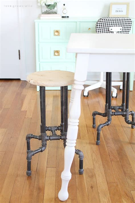 Pipe Bar Stool Diy by 25 Wonderful Things You Can Make With Pipe
