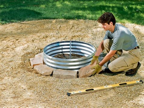 diy pit ring how to build a pit ring outdoor fireplace 1001