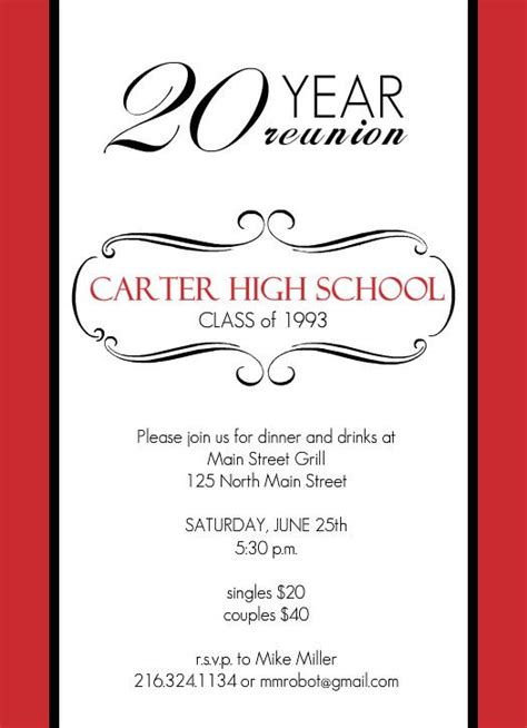 Class Reunion Invitation Templates Orderecigsjuice Info Reunion Invitation Template