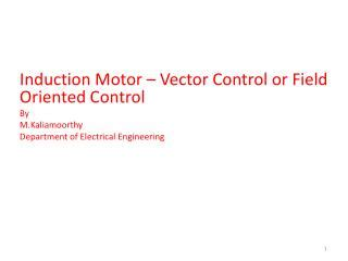 tutorial on vector control of induction motor ppt business field building control powerpoint