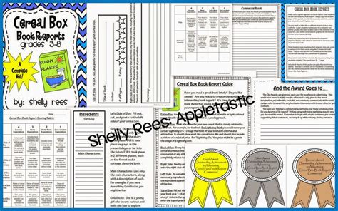 alternative book report ideas 1000 images about cereal box report on