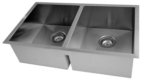 Contemporary Stainless Steel Kitchen Sinks Acri Tec Stainless Steel Undermount Bowl Kitchen Sink With Square Contemporary Corners