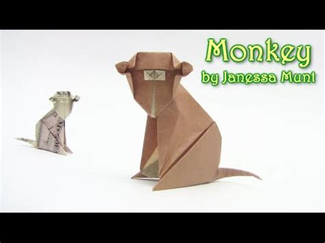 How To Make A Paper Monkey - origami monkey money como hacer el mono dinero