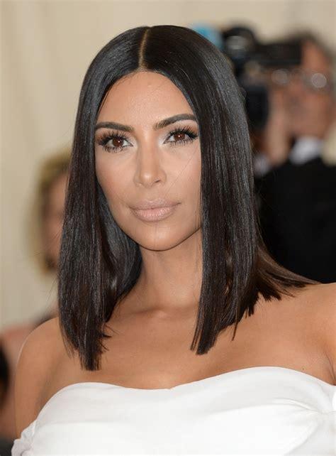 long bob hairstyles kim kardashian celebrity bob cuts 2017 inspired us with hairdrome com