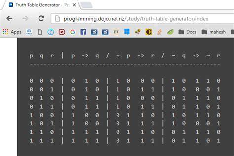 logic table generator predicate logic table generator awesome home