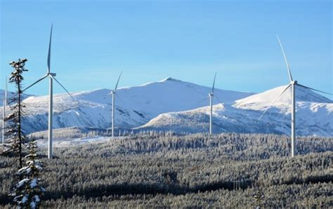pattern energy wind turbines start turning at b c s largest wind farm
