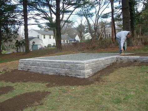 Backyard Shed Foundation by Sheds And Foundation On