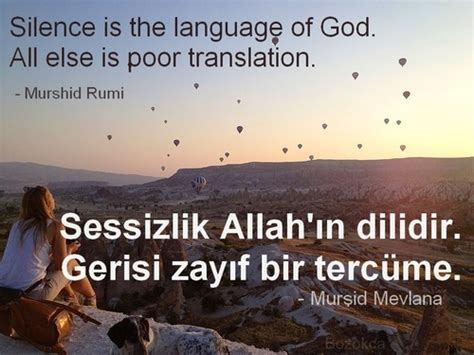 Learning The Language Of God silence is the language of god all else is poor