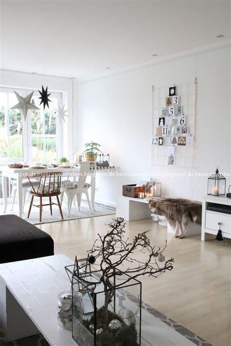 wohnzimmer dekoriert weihnachtsstimmung bei biancas wohnlust