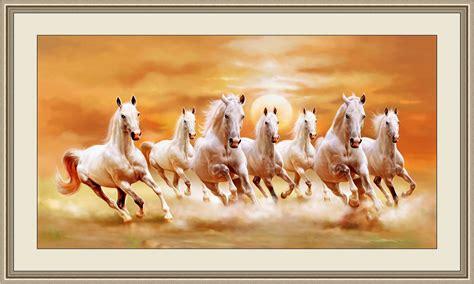 large size vastu  horses painting   direction