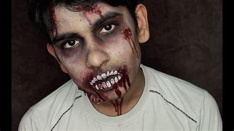 tutorial trucco zombie the walking dead halloween zombie facepaint tutorial the walking dead