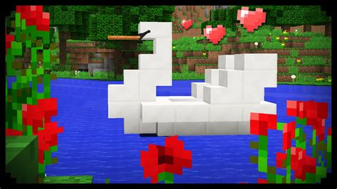 minecraft boat how to build minecraft how to make a swan boat youtube