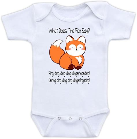 What does the fox say cute baby onesie funny onsie clothing awesome shower gift ebay