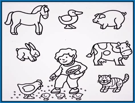 imagenes para colorear animales de la granja imagenes de animales dela granja para colorear archivos