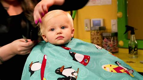 baby s first haircut youtube