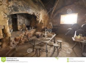 Small Bench Seats Medieval Kitchen And Dining Room Stock Images Image