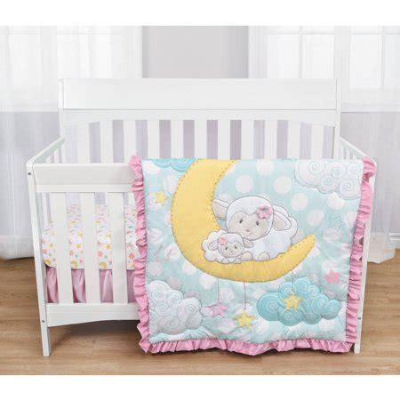 Walmart Crib Bedding by Baby S By Nemcor 3 Crib Bedding Set Quot Sleepy