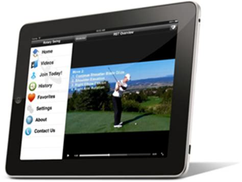 ipad golf swing app iphone golf swing app swing analyzer rotaryswing com