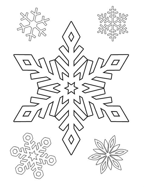 Printable Snowflake Coloring Pages coloring and activity pages snowflakes