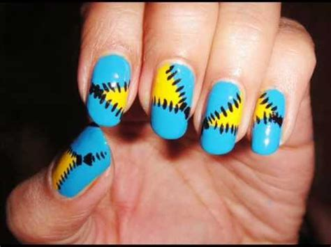 nail art tutorial funky blue zipper how to diy teal blue zipper nail art tutorial youtube