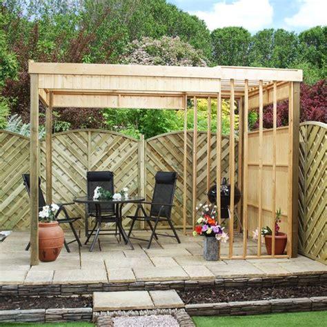 Outdoor Garden Shelter 11 X 7 Waltons Contemporary Garden Shelter With Bbq Area